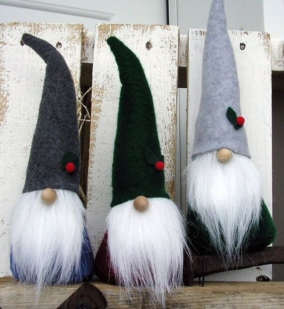 """GNOMES 9.5"""" Tomte Elf Santa Christmas by RusticSpoonful on Etsy - ORDER all year…:"""