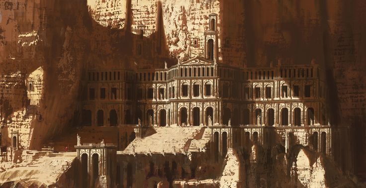 ArtStation - Giant ruins   top view, Paul Chadeisson