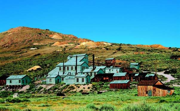 Bodie, Calif., a former gold mining camp, is kept in a state of arrested decay, meaning state park rangers don't let buildings collapse, but don't restore them either.