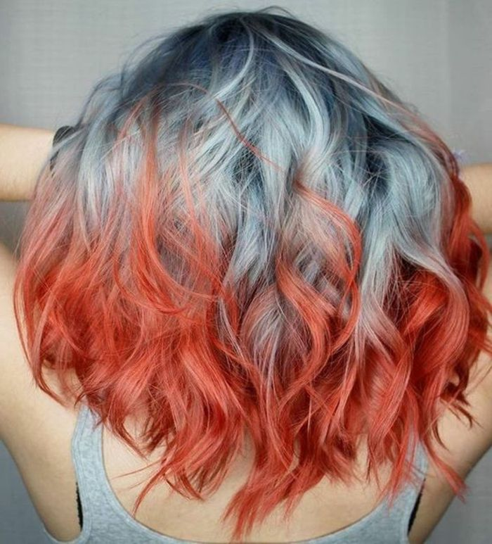 Haare überfärben gefärbte rot Rote Haare
