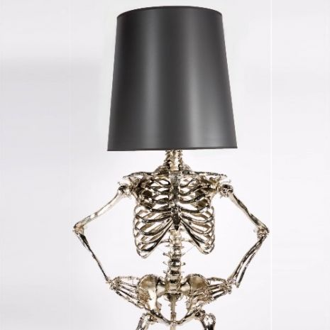 Finally there are posable life-sized skeleton body lamps! | Dangerous Minds