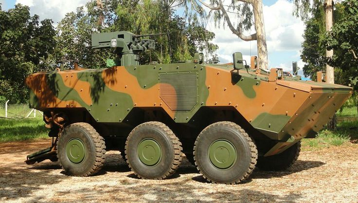 "Iveco & Brazil 'VBTP-MR'""Guarani"" APC (VBCI), with Ares REMAX weapon station (12,7mm M2HB MG, or 7,62mm FN MAG MG).   Viatura Blindada Transporte de Pessoal- Média de Rodas (Armored Personnal Carrier Vehicle- Medium Wheeled type).  ""Urutu III"" program/project."