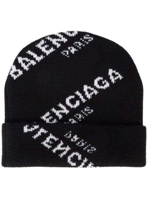 8d0eac1189d BALENCIAGA Logo Intarsia Beanie Hat.  balenciaga  hat
