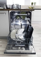 """Can you dishwasher fit a cookie sheet this size? ASKO's D5894XXL has usurpassed loading flexibility - up to 15 1/4"""" clearance!  - I need two, possibly 3: Dishwasher Adjustable, Dishwasher Fit, Xxl Dishwashers, Asko Dishwasher, Kitchen Spaces, Dream Kitchens, Cookie Sheets"""