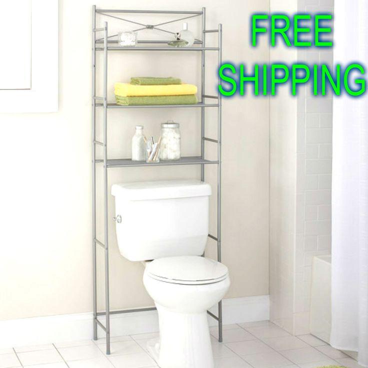 Bath 3 Tier Shelving Unit Space Saver Bathroom Storage Towel Organizer Nickel #Unbranded
