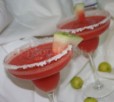 Frozen Watermelon (or Strawberry) Margaritas