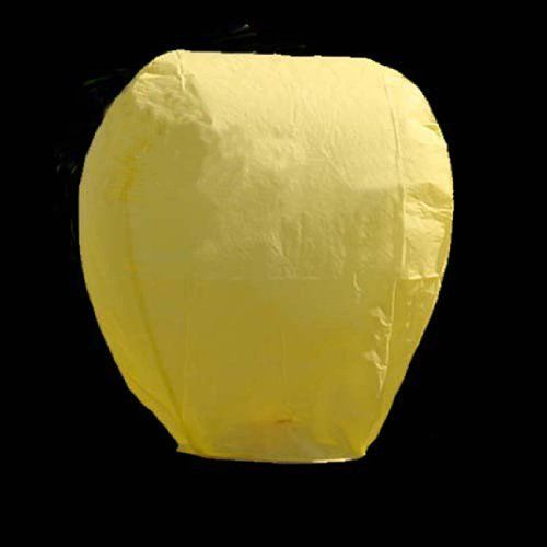 New 10 Pcs Yellow Elliptical Shape Chinese Paper Lantern Lamps Sky Lanterns for Wish Wedding Party Xmas by bestfavor. $19.99. Introductions: 1.Chinese Paper Lantern, also named Kongming Lantern.  2.Chinese Paper Lanterns are ideal for wedding, holiday, birthday and other celebrations parties; they are the perfect, safe alternative to a fireworks display that can provide a finale to your big day that you and your guests will remember forever! 3.You can design your lantern by yours...