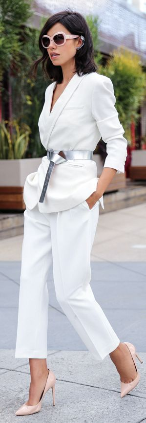 Exploring Spring Trends with People // White Valentine's Suit by Vivaluxury