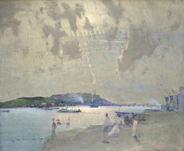 Teignmouth FRED CUMING RA Oil on canvas 25 x 30 ins