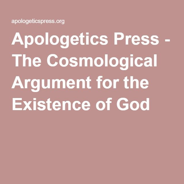 cosmological argument for existence of god essay
