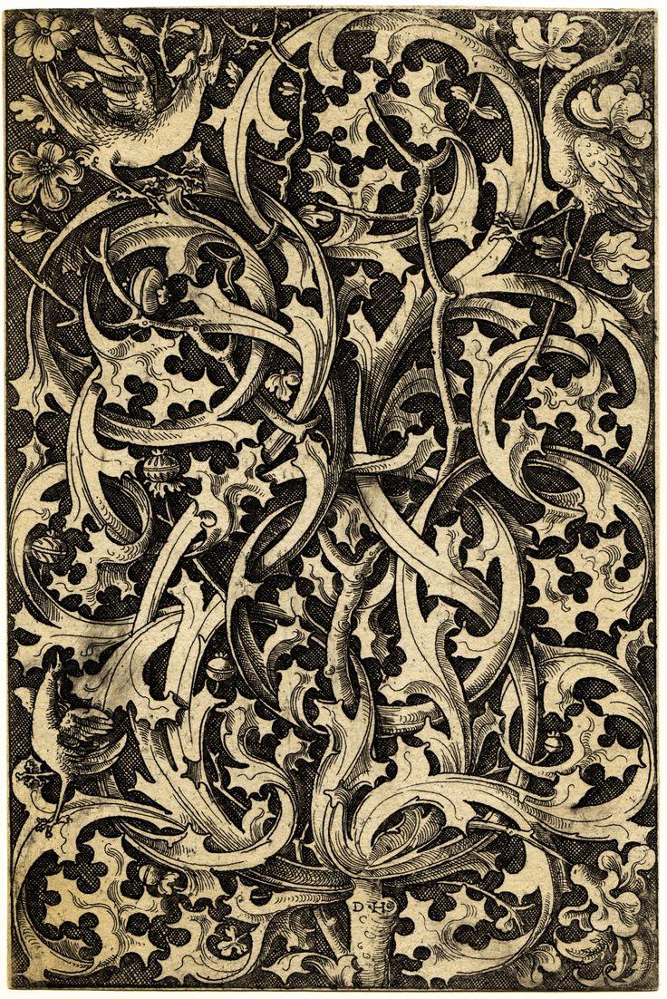 Hopfer, Daniel (ca 1470-1536): Ornament with Thistle  E5d99f68b0a9df3667e9317d1ecace00