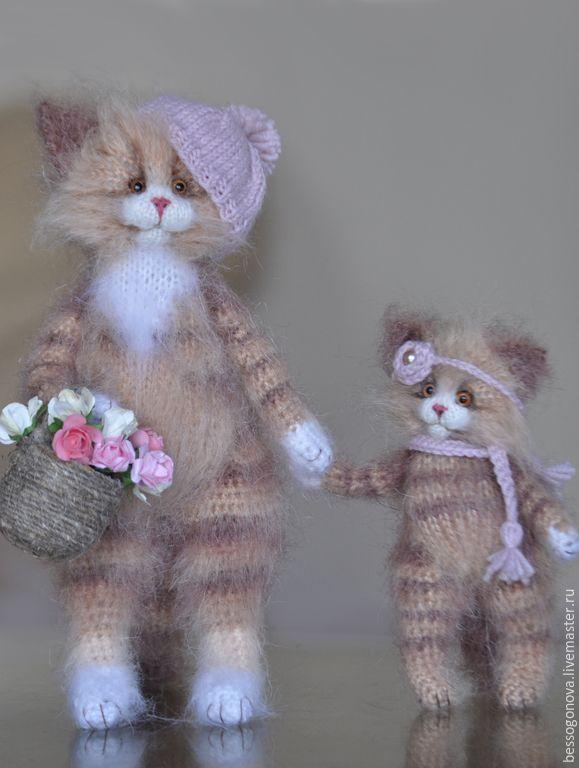 Купить КОШКА С ЛУКОШКОМ Вязаная игрушка - кошка, кошечки, кот, котик, котенок