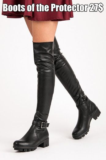 Boots of the Protector Hit winter. Fashion knee boots. Made of eco-leather. They are trendy styling finish. In addition to the comfortable sole protector and a wide heel height 5 cm, which emphasizes your femininity and at the same time gives you the comfort and convenience of walking even after the snow-covered roads. https://www.cosmopolitus.com/musketyrky-protektorem-1558b-p-241054.html?language=en&pID=241054 #Trendy #black #high #boots #cheap #comfortable #heel #protector