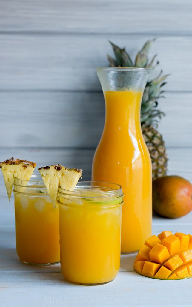 Mango pineapple agua fresca is the perfect poolside beverage for a steamy summer day. Hello, tropical vibes!
