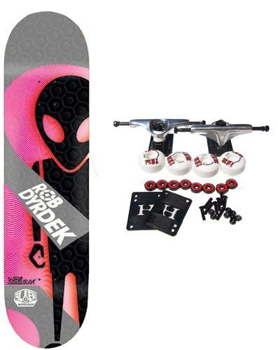 "ALIEN WORKSHOP Skateboard ROB DYRDEK SOLDIER HEXSLIX 8 Slick Hexmark Const. by Alien Workshop. $72.99. Alien Workshop Complete Skateboard Features Dyrdek Soldier Hexslix Deck, Size 8"". Complete components include Core Trucks, 52mm TGM Goth Logo Wheels, Amphetamine Abec 5 Bearings, Black Diamond Griptape, 1"" Hardware and 1/8"" risers. HEXSLIX construction features a modern interpretation on a slick bottom skateboard. An upgraded slick material is used and the original Hexma..."