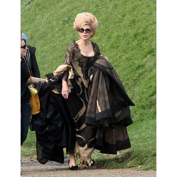 First Look At INTO THE WOODS Movie Cast In Costume! Christine Baranski