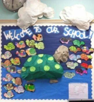 Welcome to Our School Turtle Bulletin Board -- perfect for the Tiny Turtles!