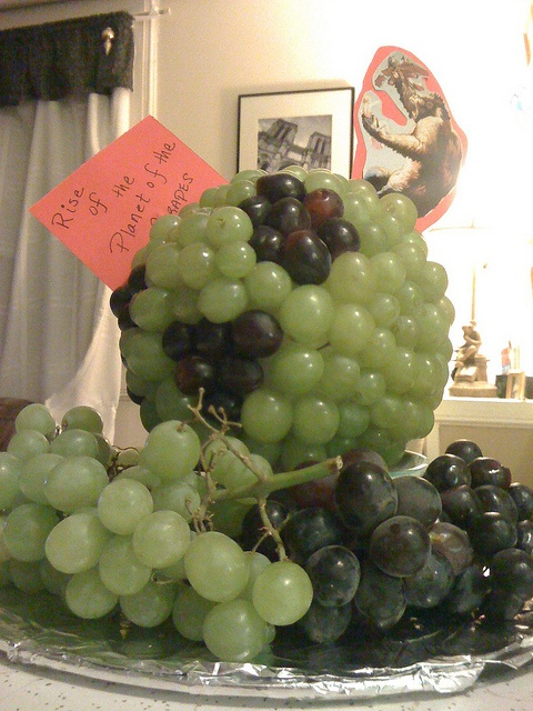AWESOME:  Pre-Oscar Food Party creation this year (2012) - Rise of the Planet of the Grapes.