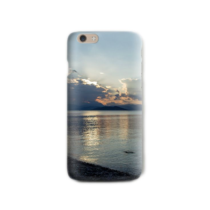 Sunset iPhone 6 plus case Soft silicone Beach Photograph Print iPhone case blue orange iPhone case Gift for her iPhone 5 case Birthday gift by LightBlueCases on Etsy