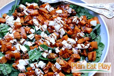 Are you after a delicious and healthy salad that can triple as a main meal, side dish or lunch? Here's a free recipe for you. Visit www.planeatplay.com for more yummy #sidedishes #planeatplay