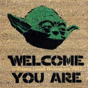 Geeky home decor for non diy 39 ers bonus nothing over 75 our nerd home our home - Geeky doormats ...