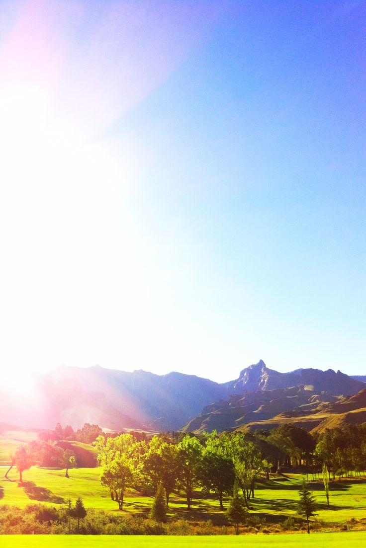 { SHINING OVER RHINO PEAK } Drakensberg Gardens, South Africa.  Camera: iPhone 4, 5-megapixel iSight camera. Mobile Editing: Photoshop Express, Pixlromatic.