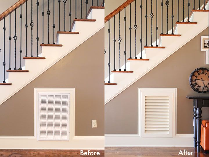 A Return Air Vent Cover That Is Pretty AND Removable For When You Need