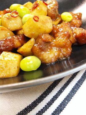 材料2つで*揚げ里芋の和風黒酢酢豚