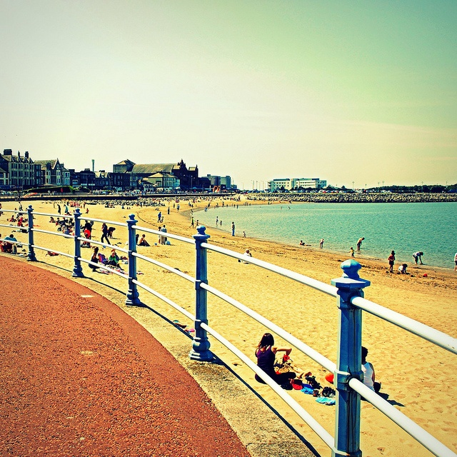 Morecambe Prom, with The Midland in the background