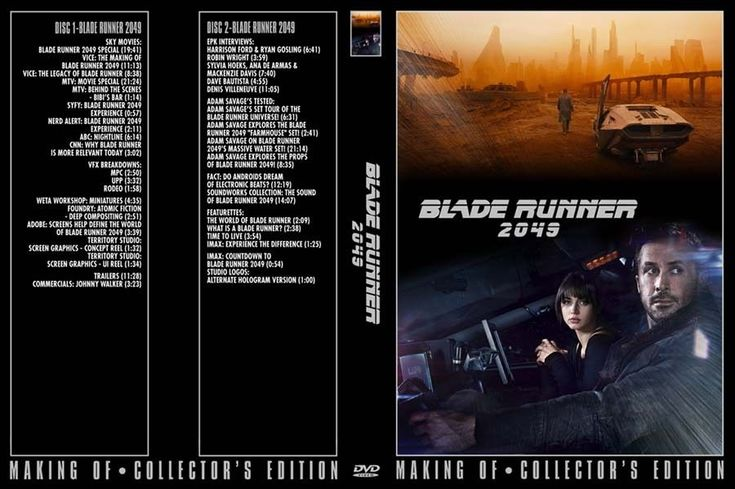 3+ hrs UNRELEASED Blade Runner 2049 promos TV specials collectible - 2 DVD set