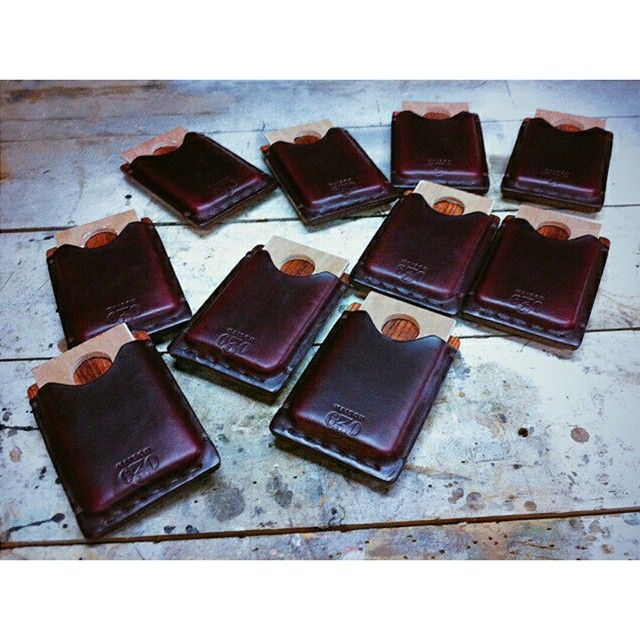 The Dante getting shaped nicely before shipping  #maison630 #menswear #mensfashion #fashionable #fashionstyle #handmade #style #stylish #outfit #streetwear #streetstyle #gq #dapper #mensfashion #leather #horween #wood #wallet #men #male #accessories #trend #trendy #swag #swagger #instafashion #instadaily #instagood