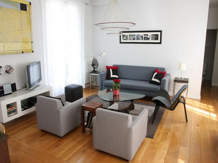 living room flat screen setup apartment size sofas furniture apt sets for apartments table small space
