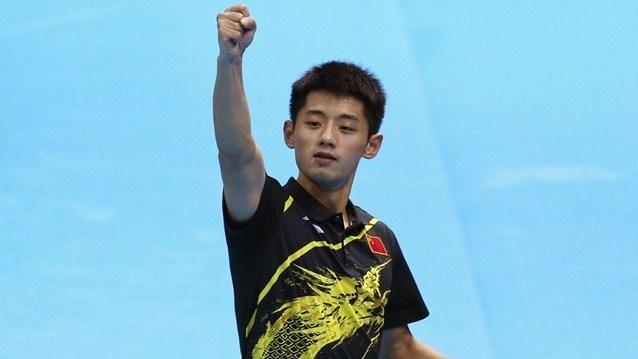 Table Tennis  Men's Singles  Zhang Jike of China celebrates gold  Zhang Jike of…