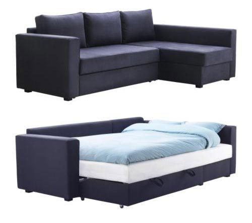 MANSTAD packs a lot of punch — it's a (1) small scale sectional sofa that's also a (2) bed and (3) storage.