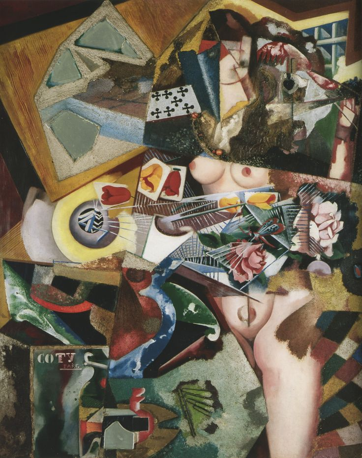 Coty, 1917, oil and collage on canvas, Amadeo de Souza Cardoso