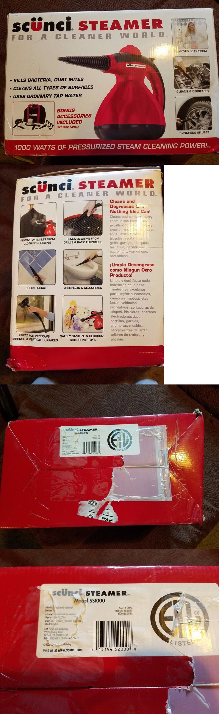 Carpet Steamers 79656: Scunci Steamer Ss 1000 With Attachments New Free Shipping! -> BUY IT NOW ONLY: $89.99 on eBay!