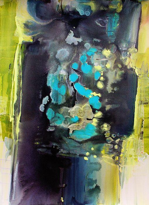 """NEBULAE "" by Bianka Guna Art 2006 Series Acrylic on Canvas 48""x 36"" Original Modern Abstract Painting Contemporary Fine Art Canvas Hand Painted"