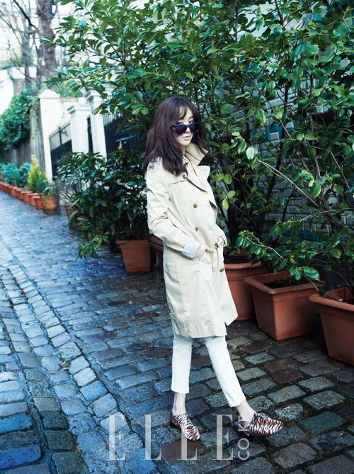 ELLE Korea,려원,여배우,패션,style,드라마의제왕,파리,coat,sunglass