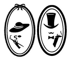 Image of 15X18cm-Toilet vintage Vinilo con 2 iconos de baño/wc vintage (hombre & mujer). Ideales para decorar tu casa. Cada icono mide 15x9cm.  Disponible en diferentes colores, puedes verlos en nuestro color chart adjunto en las imágenes  Toilet icons wall decal vinyl