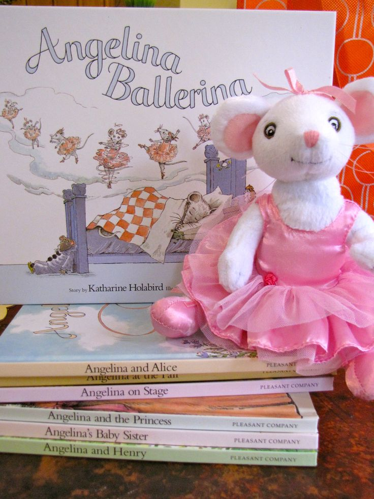 learning with Angelina Ballerina: make a mouse ears headband, have an Angelina-themed play date.