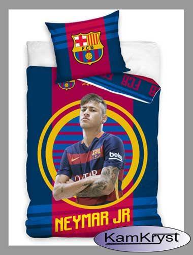 Nowy wzór pościeli z Neymarem z FC Barcelona - bawełniana pościel piłkarska w rozmiarze 160x200 cm
