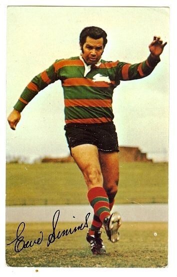 "Eric Simms an Indigenous Australian former rugby league footballer named in the finest of the 20th century. He played his entire first grade career for South Sydney, won four premierships and top point-scorer for four consecutive seasons. In August 2008, Simms was named at fullback in the Indigenous Team of the Century. Simms set several records, some which still stand. Simms and his ability to kick field goals is ""one of the few men whose influence was such it singlehandedly changed the…"