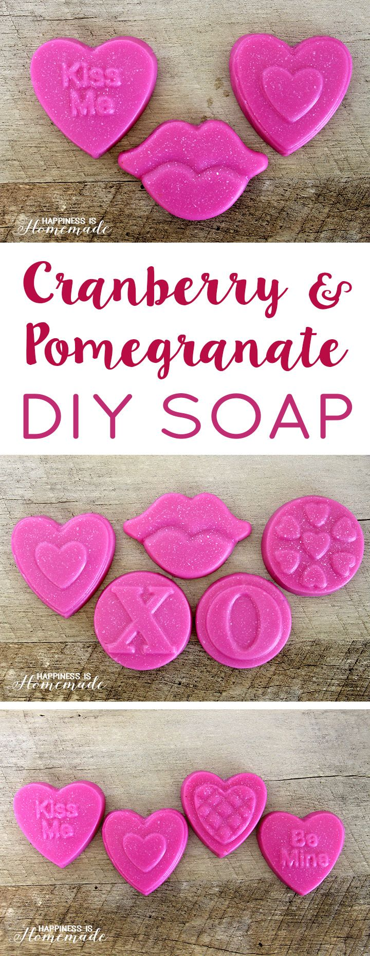 DIY Cranberry + Pomegranate Soap