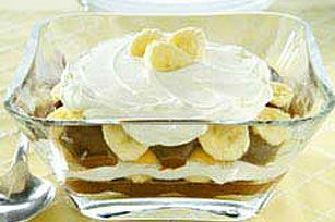 Simply layer chocolate and vanilla pudding with bananas, Nilla Wafers, and whipped topping for a presentation that can't be beat.