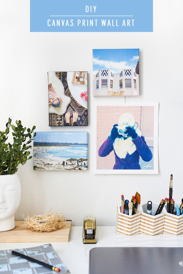 Customize your walls with your own photos using printable canvas paper for this DIY canvas print wall art tutorial for Spring! #spring #refresh #wallart #canvas #diy #homedecor