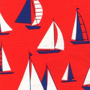 Ship Shape by Alice Kennedy: Ships Shape, Summer Dresses, Cotton Fabrics, Red Fabrics, Fab Fabrics, Sailboats Red, Alice Kennedy, Fabrics Design, Sailing Boats
