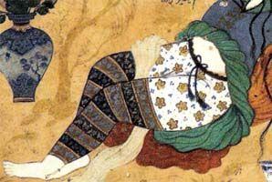 Persian Pants, fun way to utilize smaller fabric pieces.