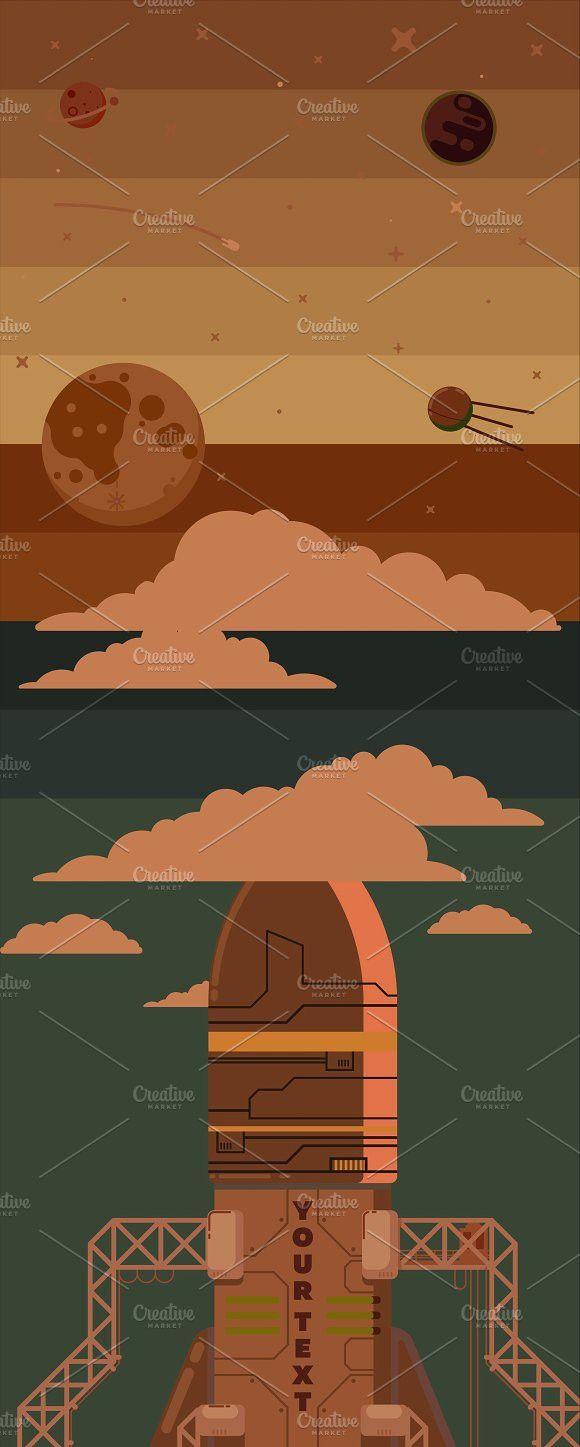 Rocket ship illustration. Project #rocket