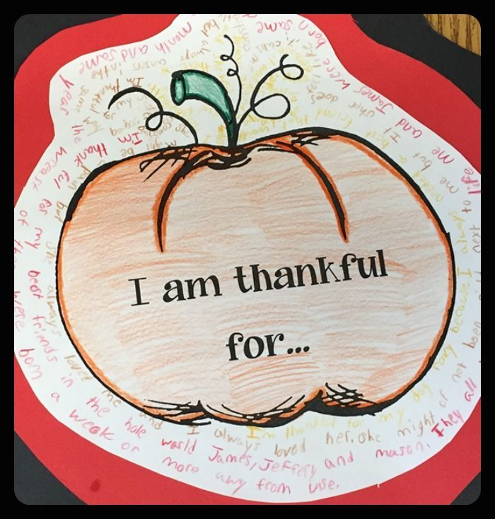A fun writing/art project to do with your kids at Thanksgiving time!