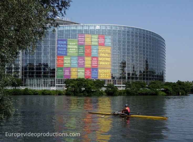 European Parliament in Strasbourg in France